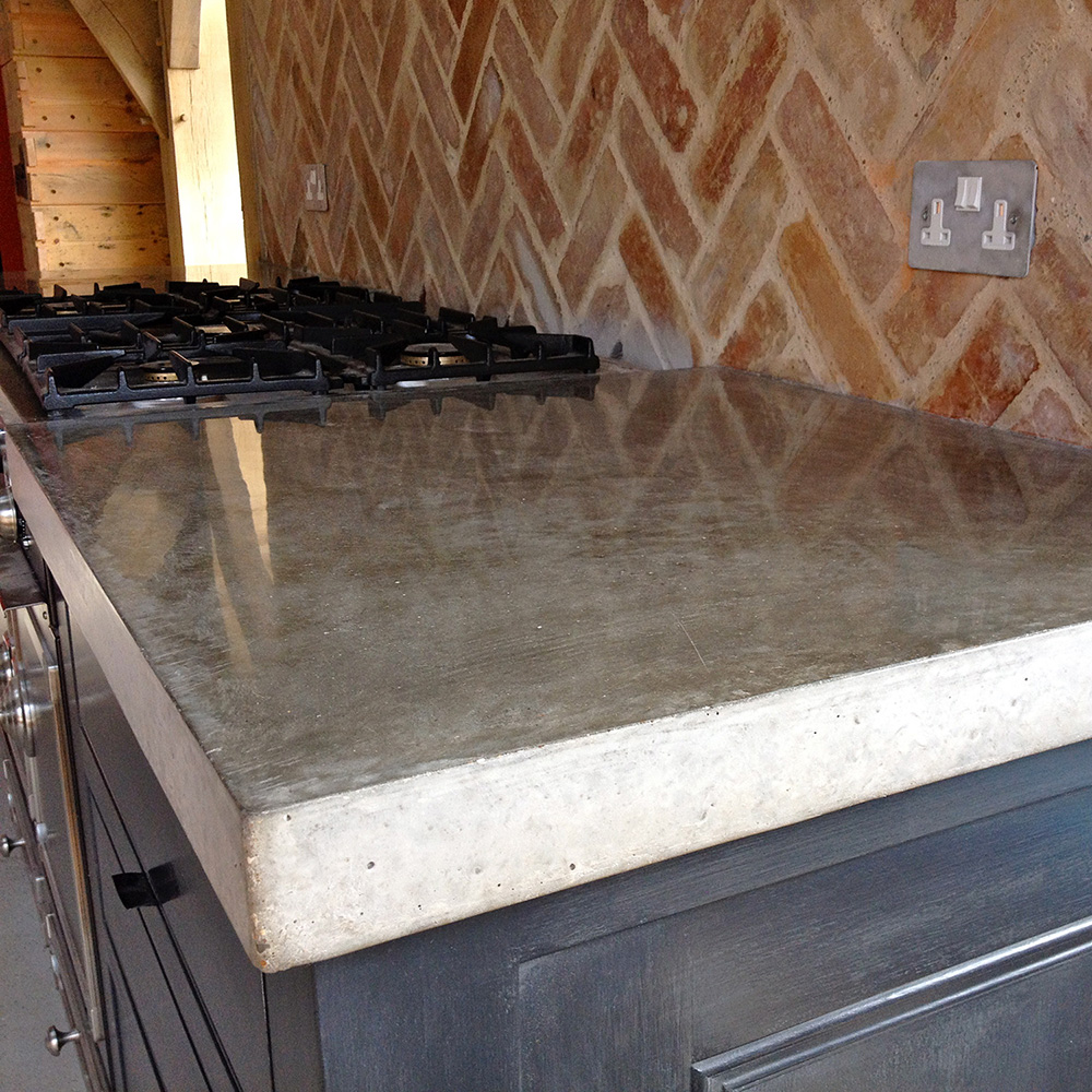 Polished Concrete Kitchen Floor Guernsey Polished Concrete Kitchen Worktops In Situ Cast