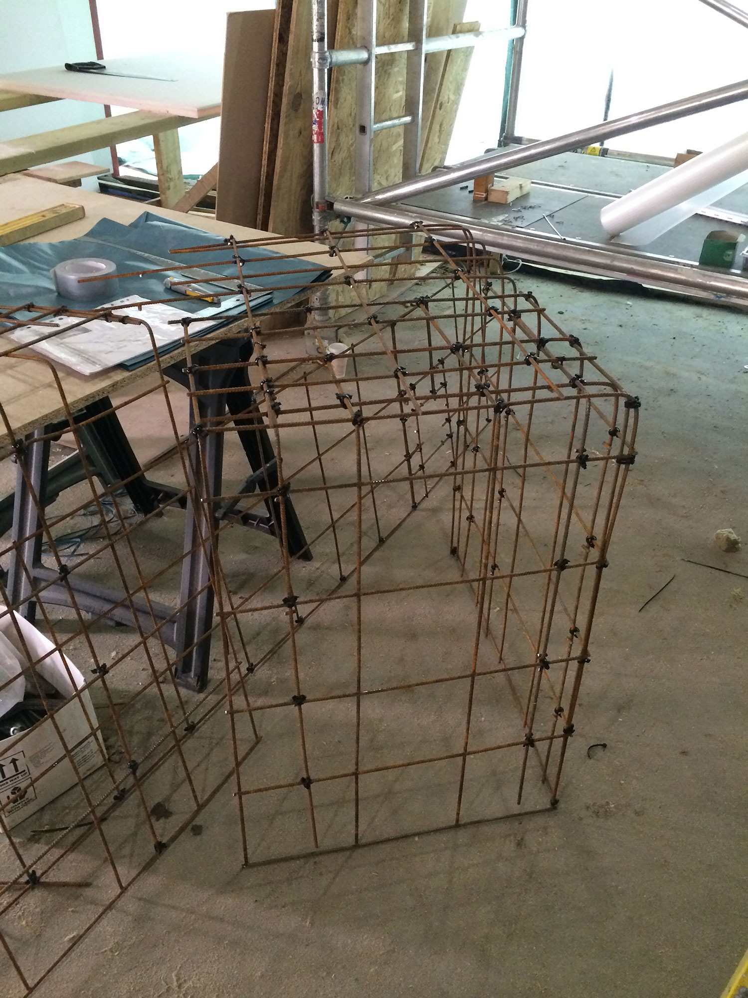 Conscious Forms - st raphael s hospice cheam on site steel rebar fabrication for reinforcement of concrete
