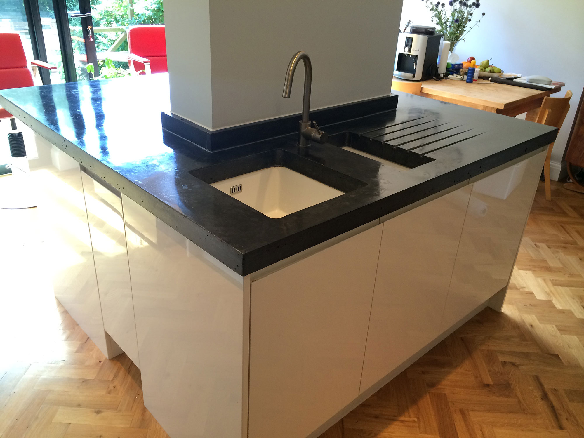 Forest Hill Polished Concrete Kitchen Worktops - IN-SITU CAST ...
