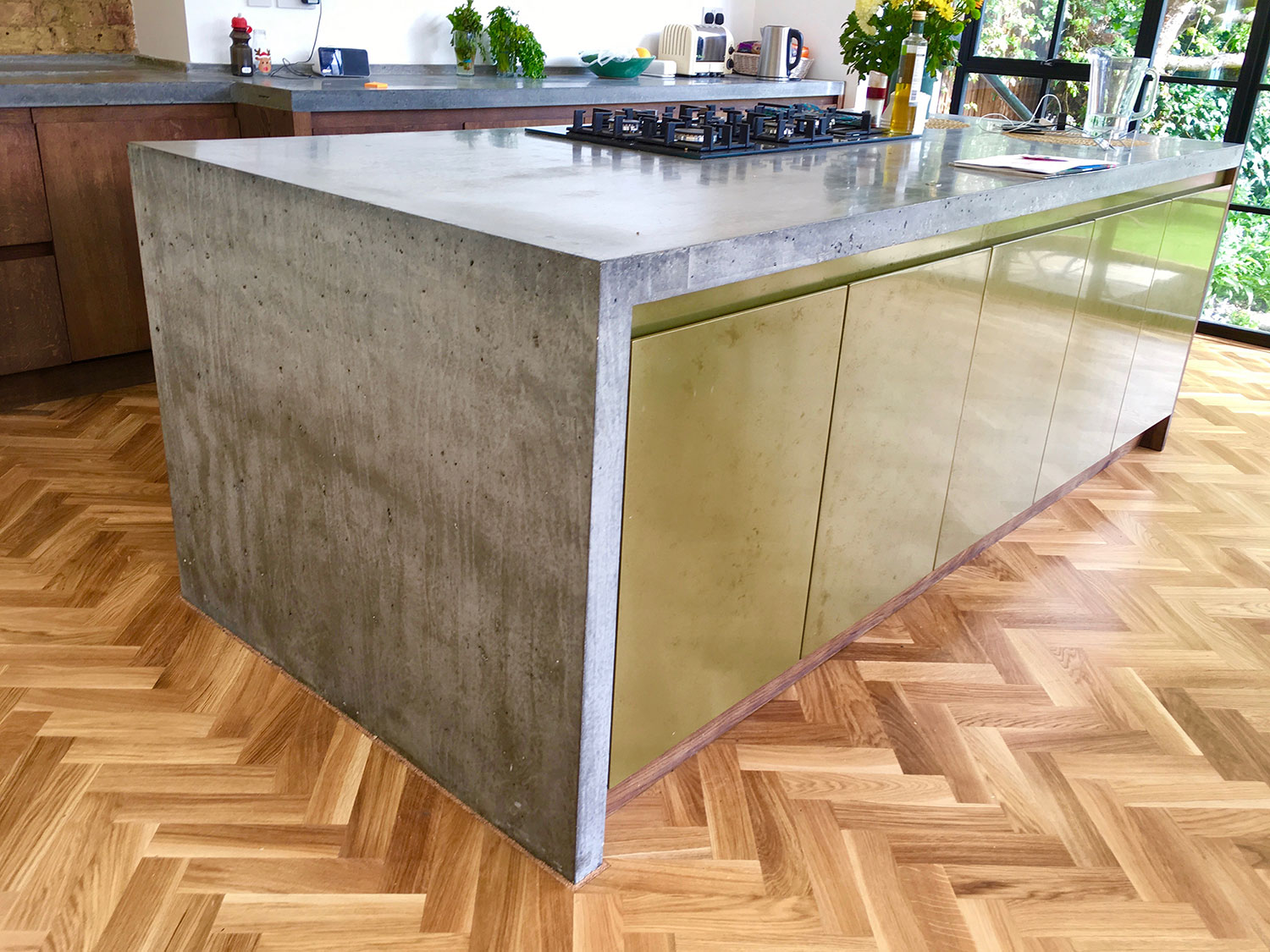 Penge Concrete Worktops And Island In